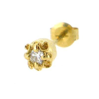 メンズ用K18イエローゴールドダイヤモンドピアス