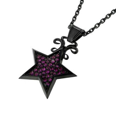 星のネックレス|スターライトペンダント(ブラック)