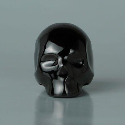 スタイリッシュな印象のお洒落なスカルリング|シルエットスカルリング(ブラック)