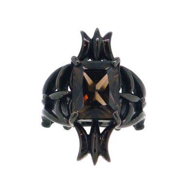 スモーキークォーツリング(ブラック)