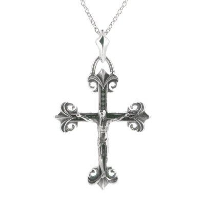 キリストとクロスが繊細な造形で作られているロザリオネックレス「ロザリーペンダント」