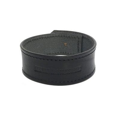 リリーボタン シングルレザーブレスレット(ブラック)アークシルバーアクセサリーズ