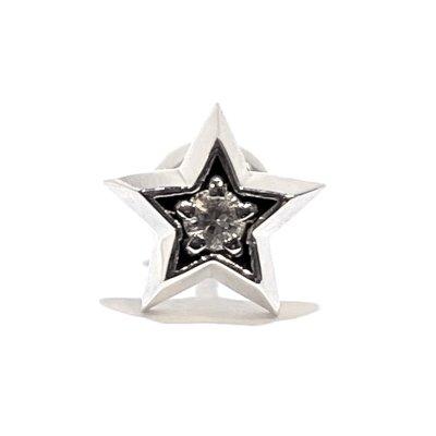 星モチーフのシルバーピアス「スターライトピアス(ホワイトサファイア)」アークシルバーアクセサリーズ